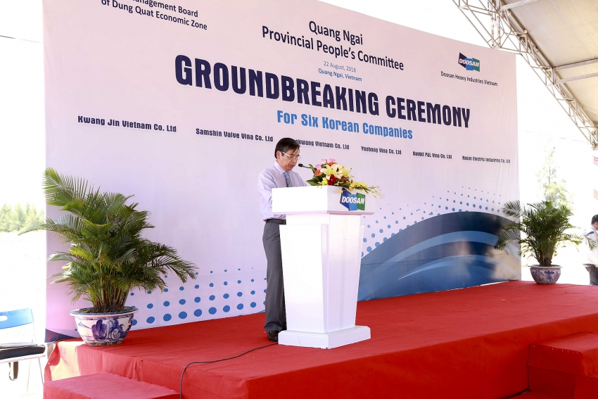 quang ngai and doosan bring a new industrial cluster to dung quat ez