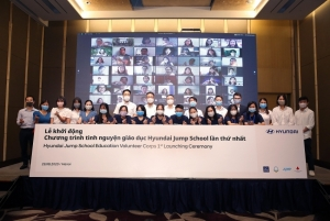 hyundai jump school education volunteer officially launched in vietnam