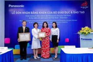 panasonic vietnam receives education certificate from ministry