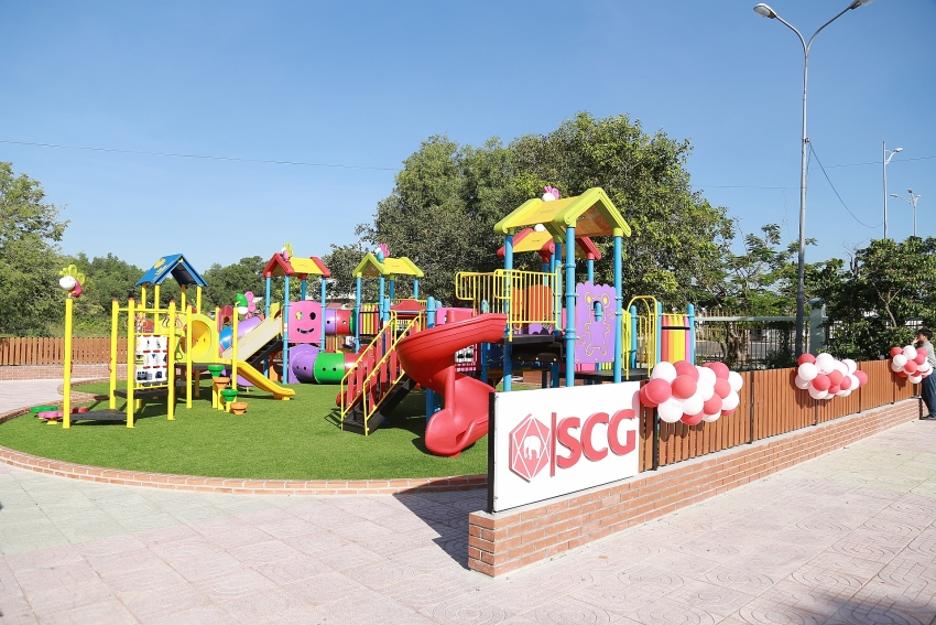 scg builds high quality playgrounds for children in ba ria vung tau