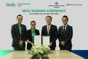 shinhan financial group and grab vietnam sign strategic partnership agreement