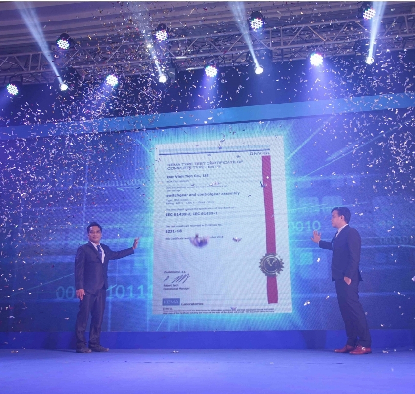 dat vinh tien receives kema type test for its low voltage products