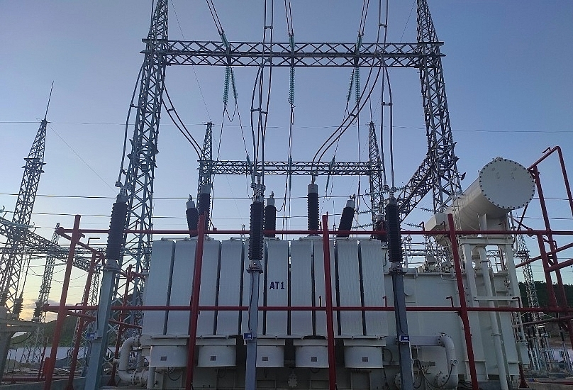 220kv van phong electrical substation starts operation