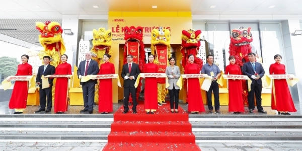 dhl express opens its largest service centre in hanoi