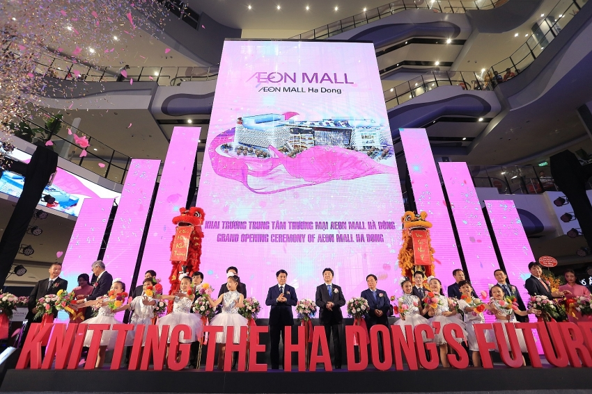 aeon hosts grand opening of largest shopping mall in vietnam to date
