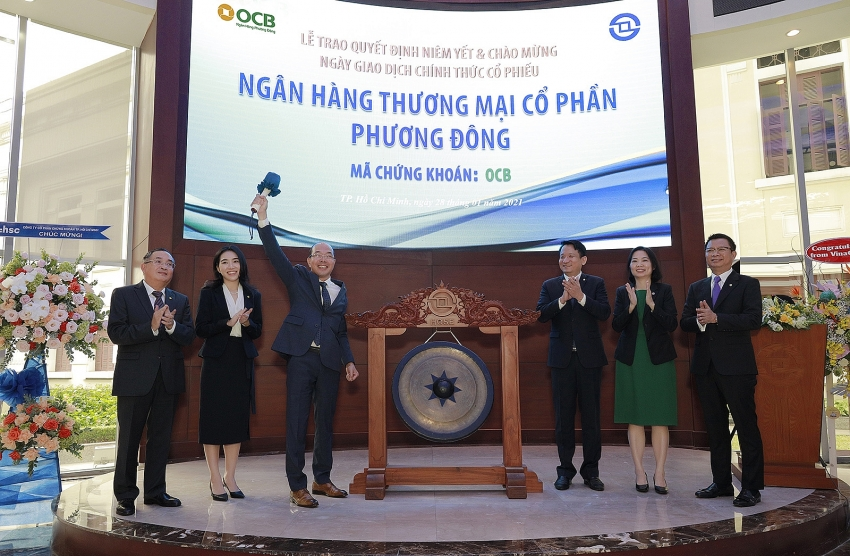 ocb officially went public on ho chi minh stock exchange