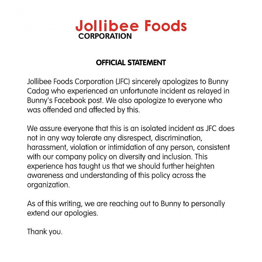 jollibees highlands coffee under fire for discriminating the disabled