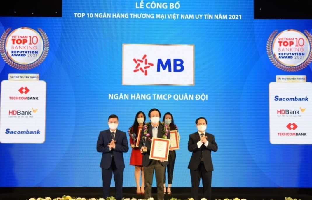 MB in top 4 Vietnam's most prestigious commercial banks