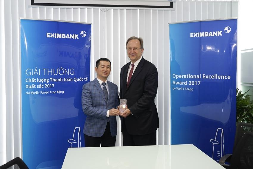eximbank receives operational excellence award from wells fargo