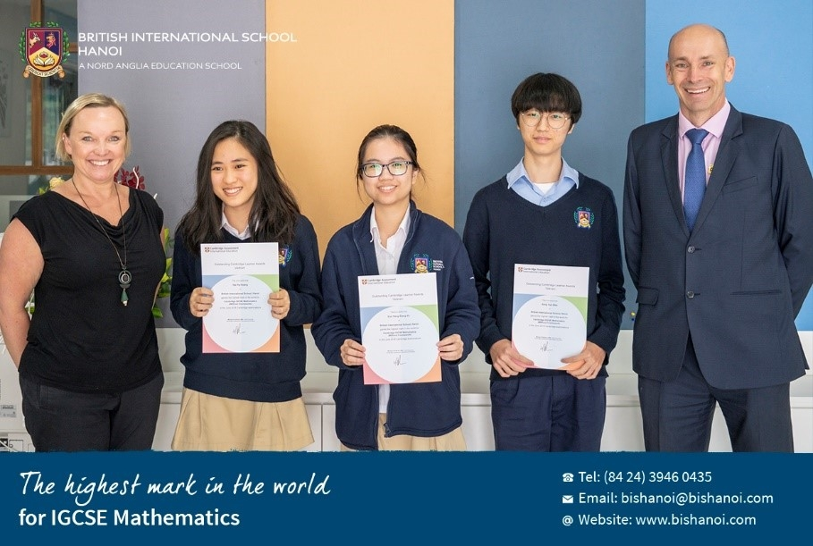 bis hanoi students achieve the worlds highest mark in cambridge examination