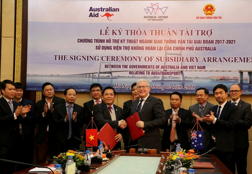 australia provides 24 million to helsupport transport project development