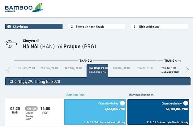 bamboo airways offers vietnam czech republic tickets from 200