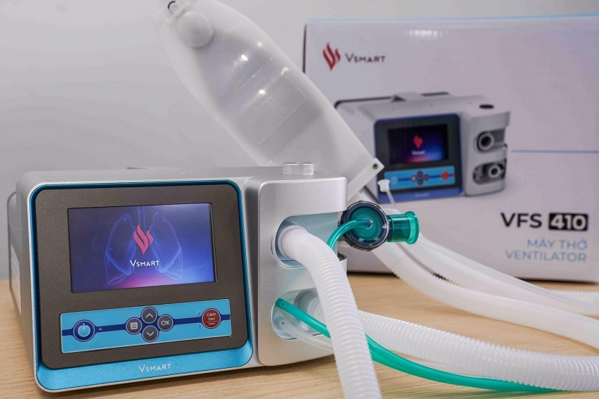 vingroup completes two vsmart ventilator models for hostpital use