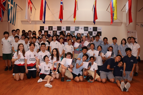 ho chi minh city students line up for first f1 grand prix in vietnam