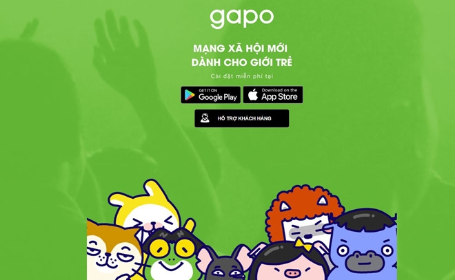 vietnamese social network gapo riddled with errors right after launch