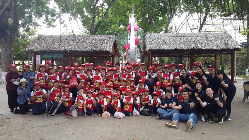 capitaland vietnam organises picnic for underprivileged children