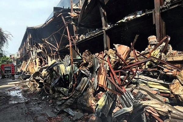 a scene of devastation and danger after rang dong inferno
