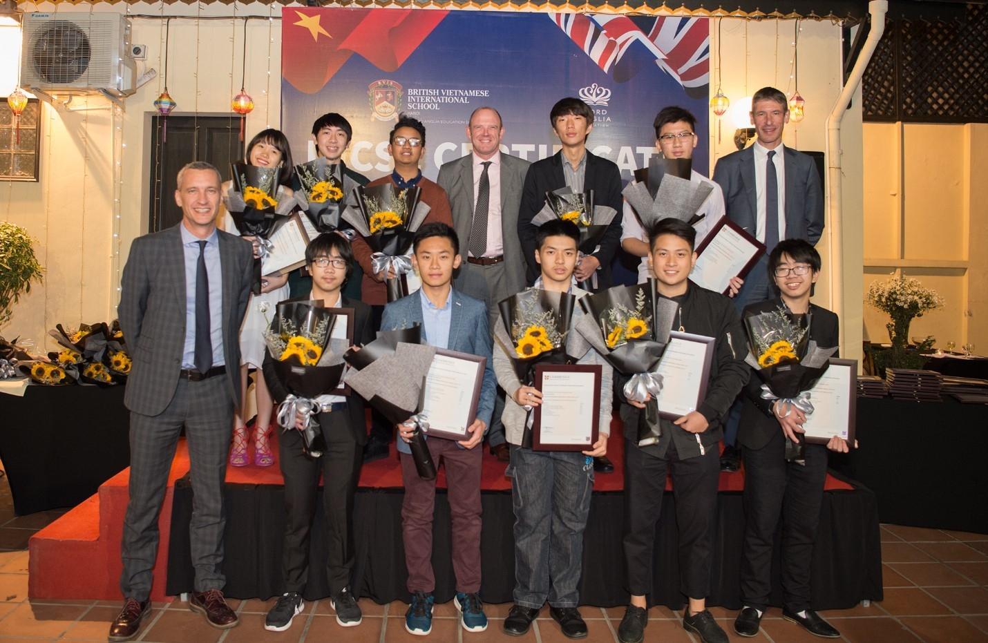 stellar examination results for student at the british vietnamese international school in igcse