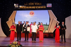 cp wins gold brand of vietnams agriculture award