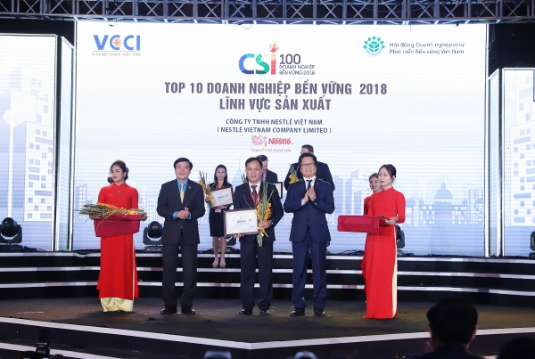 nestle vietnam in top 10 sustainable companies for second year running