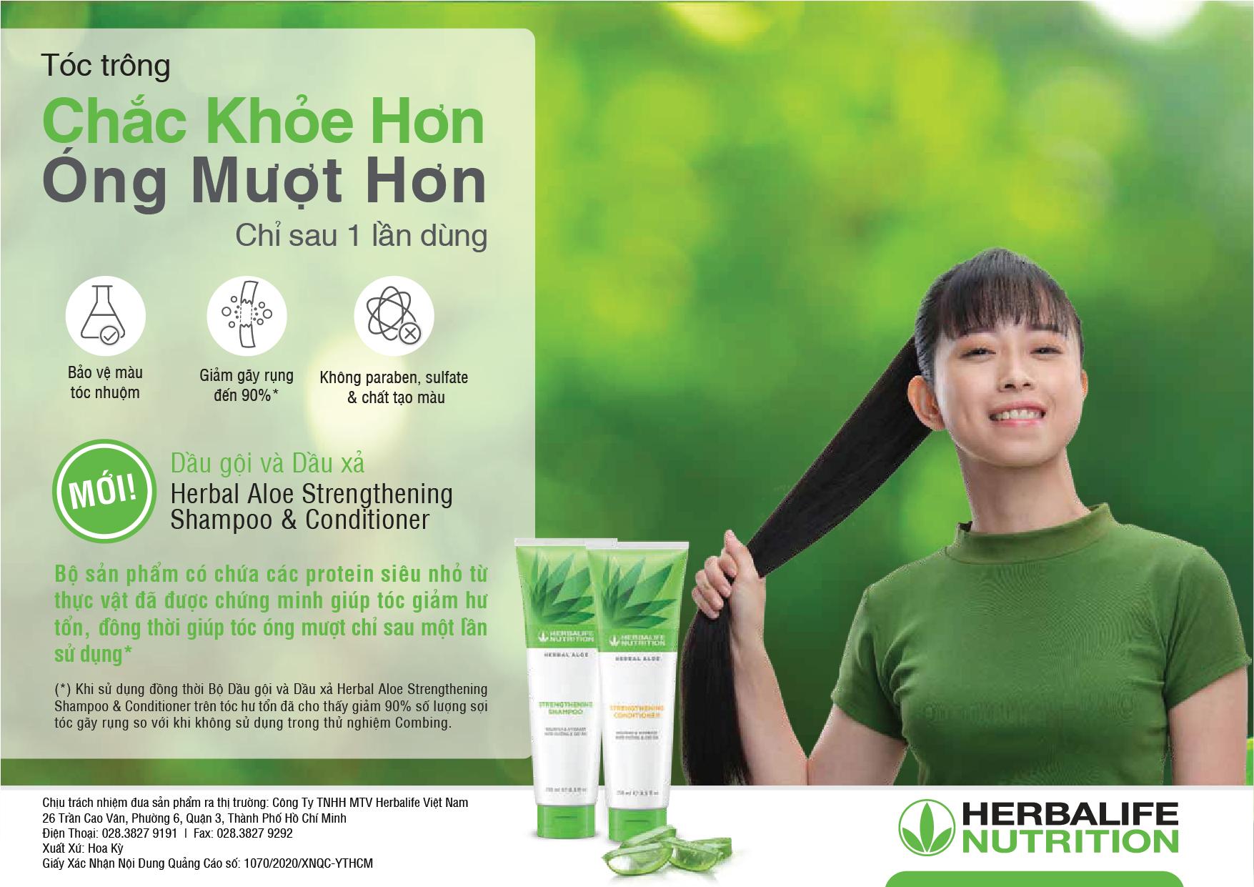 herbalife vietnam launches herbal aloe shampoo and herbal aloe conditioner