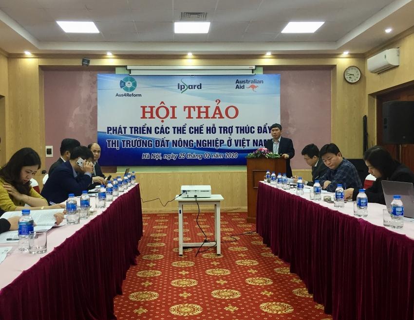 workshop offers insights on setting up agricultural land market