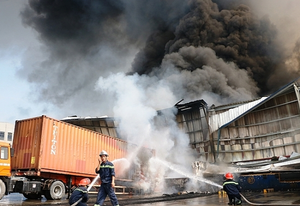 industrial zones in red alert over fire prevention
