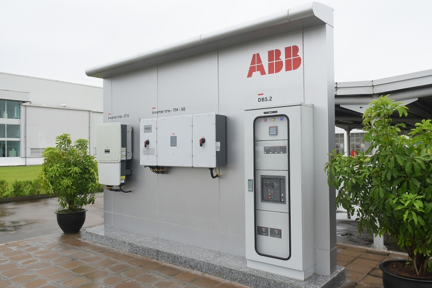 abb factory in vietnam inaugurates solar power installation