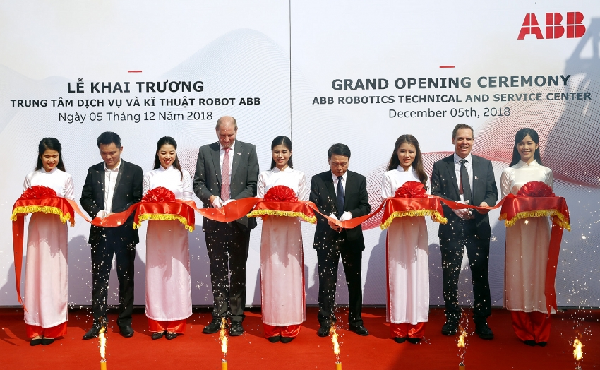 abb opened the vietnams first robotics technical and service centre
