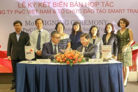 pwc vietnam signed mou with smart train
