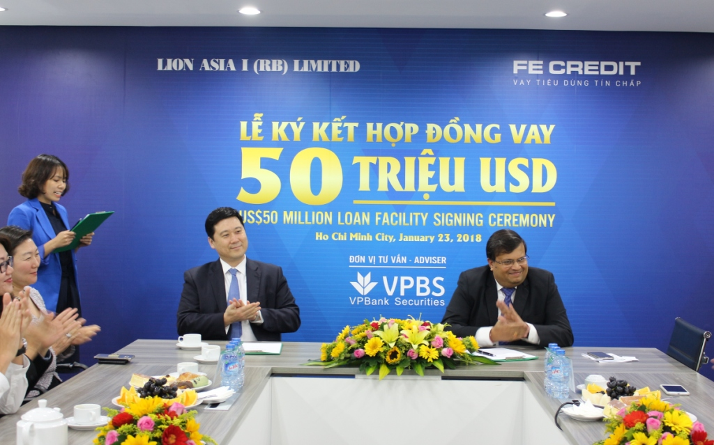fe credit signs 50 million loan facility with lion asia