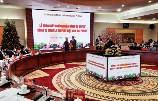 lg display vietnam haiphong increases capital by 750 million