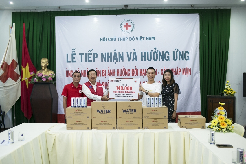 ab inbev supports people affected by salinity and drought in coastal vietnam