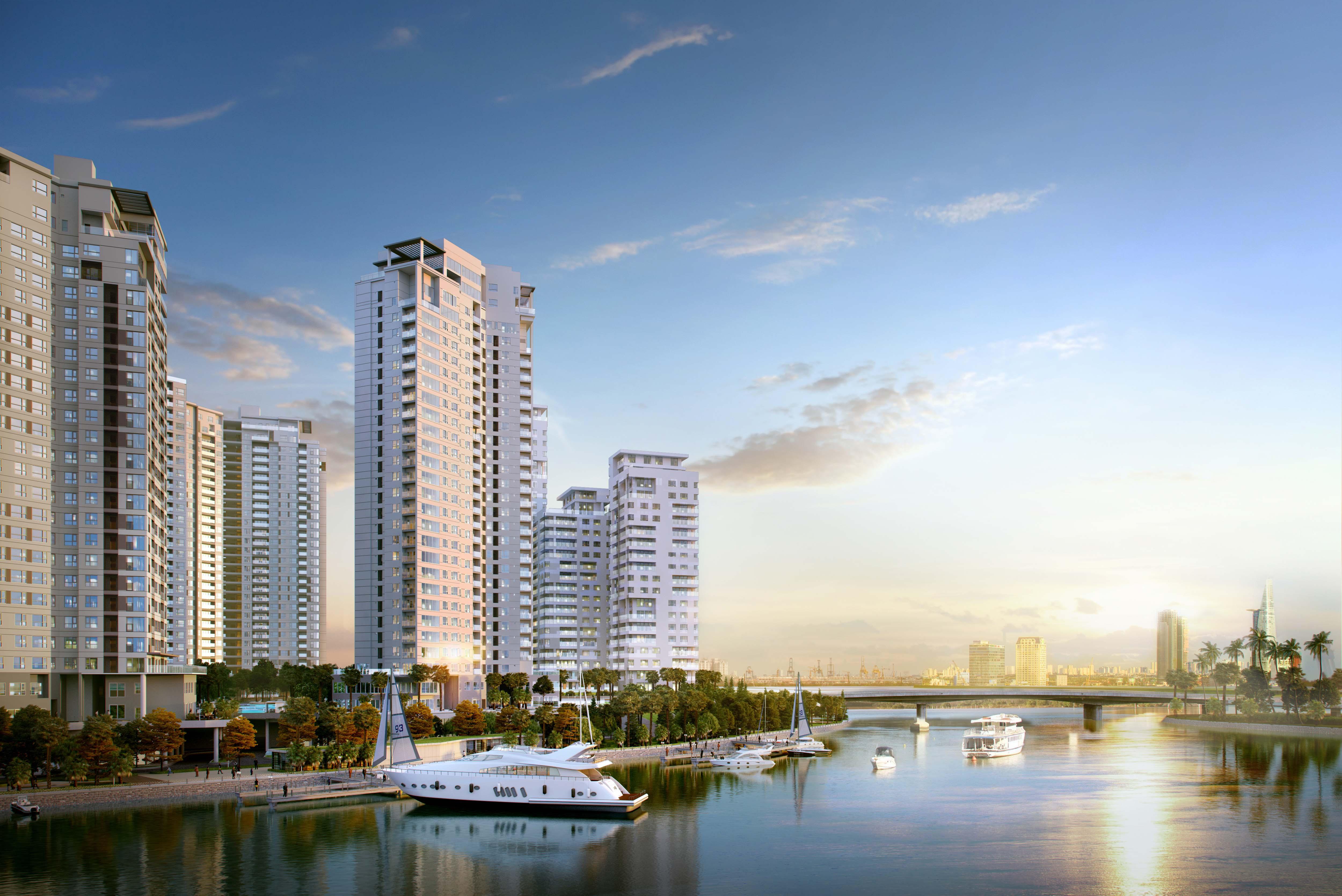 Premium life at spacious apartments in Brilliant Tower