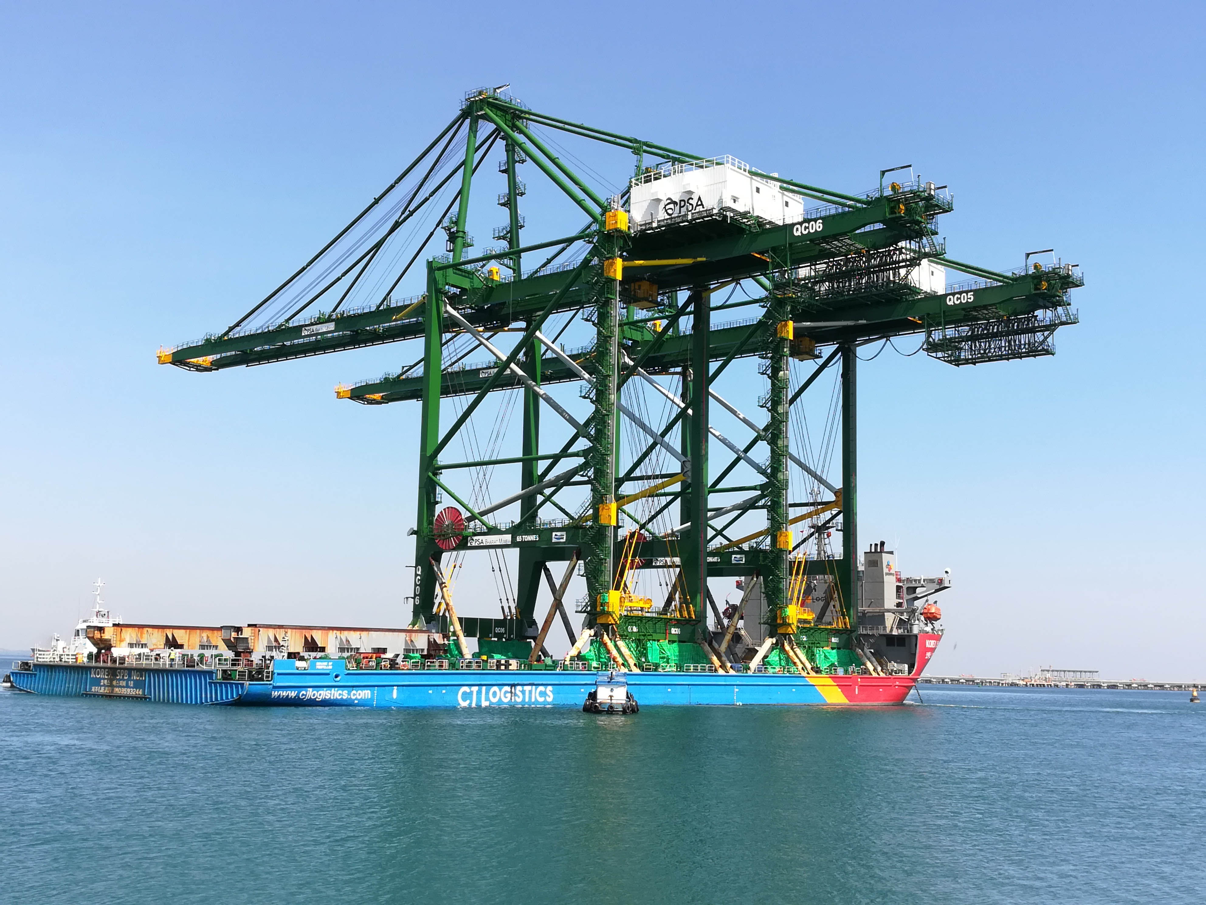 Doosan Vina ships three RMQC cargo container cranes to India