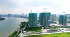 phase ii of diamond island officially topped out