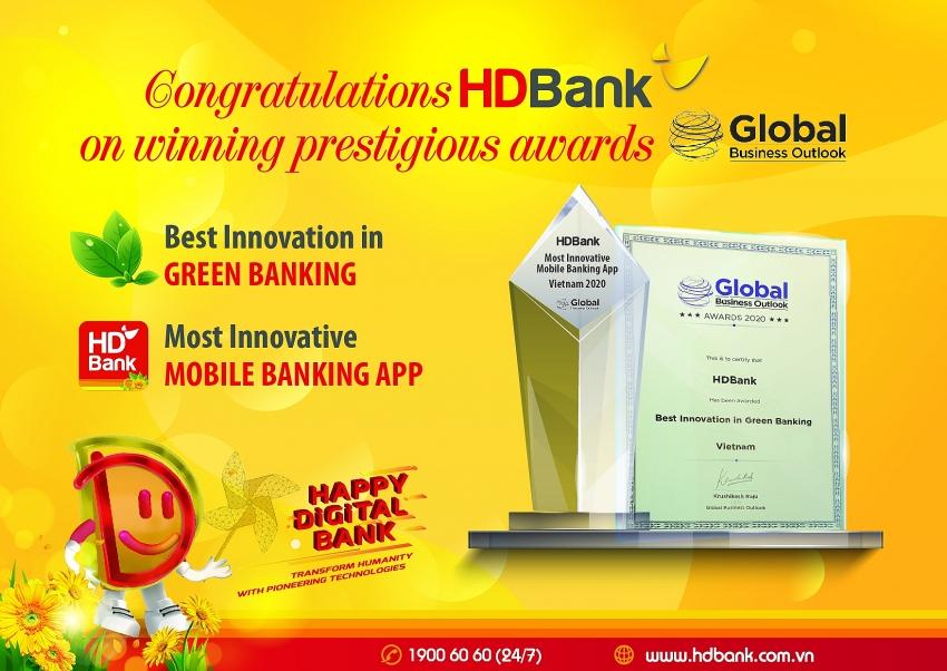 hdbank receives global business outlook award 2020