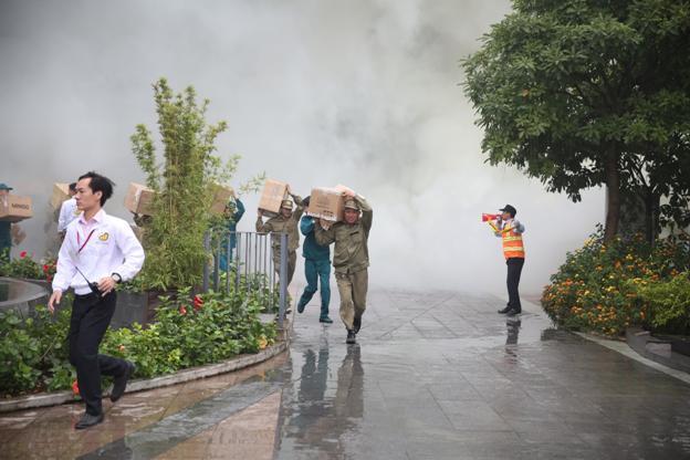 AEON MALL Long Bien conducts successful fire drill