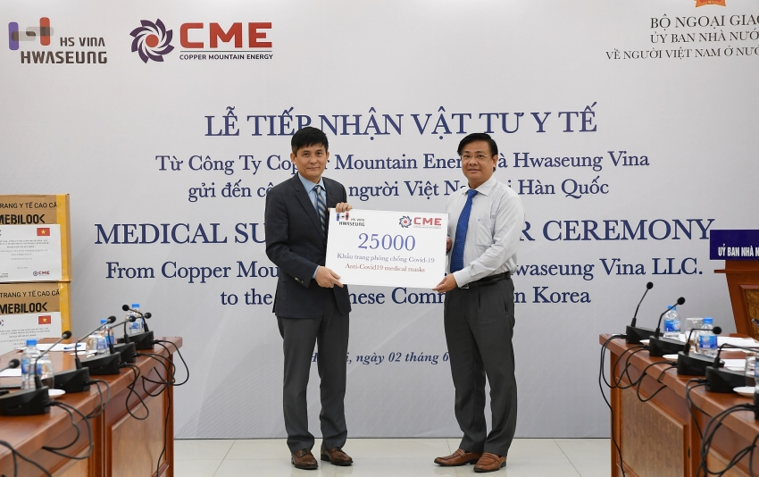 battling covid 19 cme and hsv donate medical supplies to vietnamese in south korea