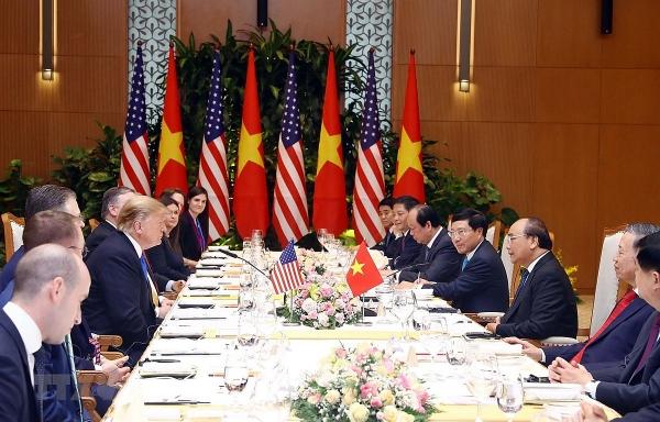 vietnams top leaders met with us president donald trump