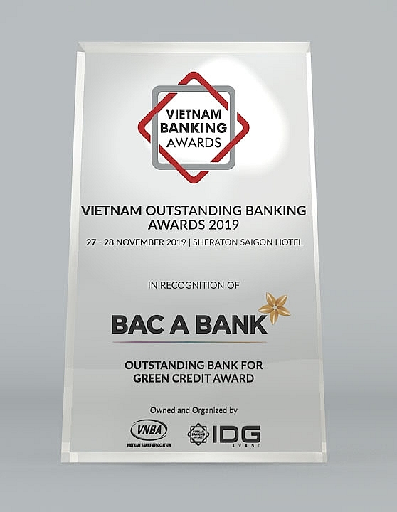 bac a bank named outstanding bank for green credit
