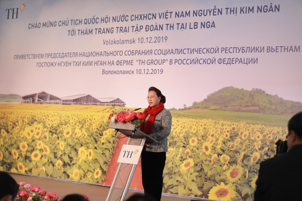 national assembly leader visits th groups project in russia
