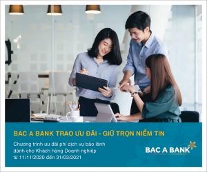 guarantee incentives for corporate customers at bac a bank