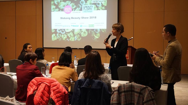 mekong beauty show 2018 to promote organic cosmetics