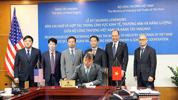 vietnam and west virginia sign memorandum for commerce economy and energy
