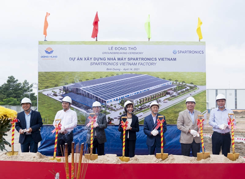 spartronics starts construction of new factory in vietnam