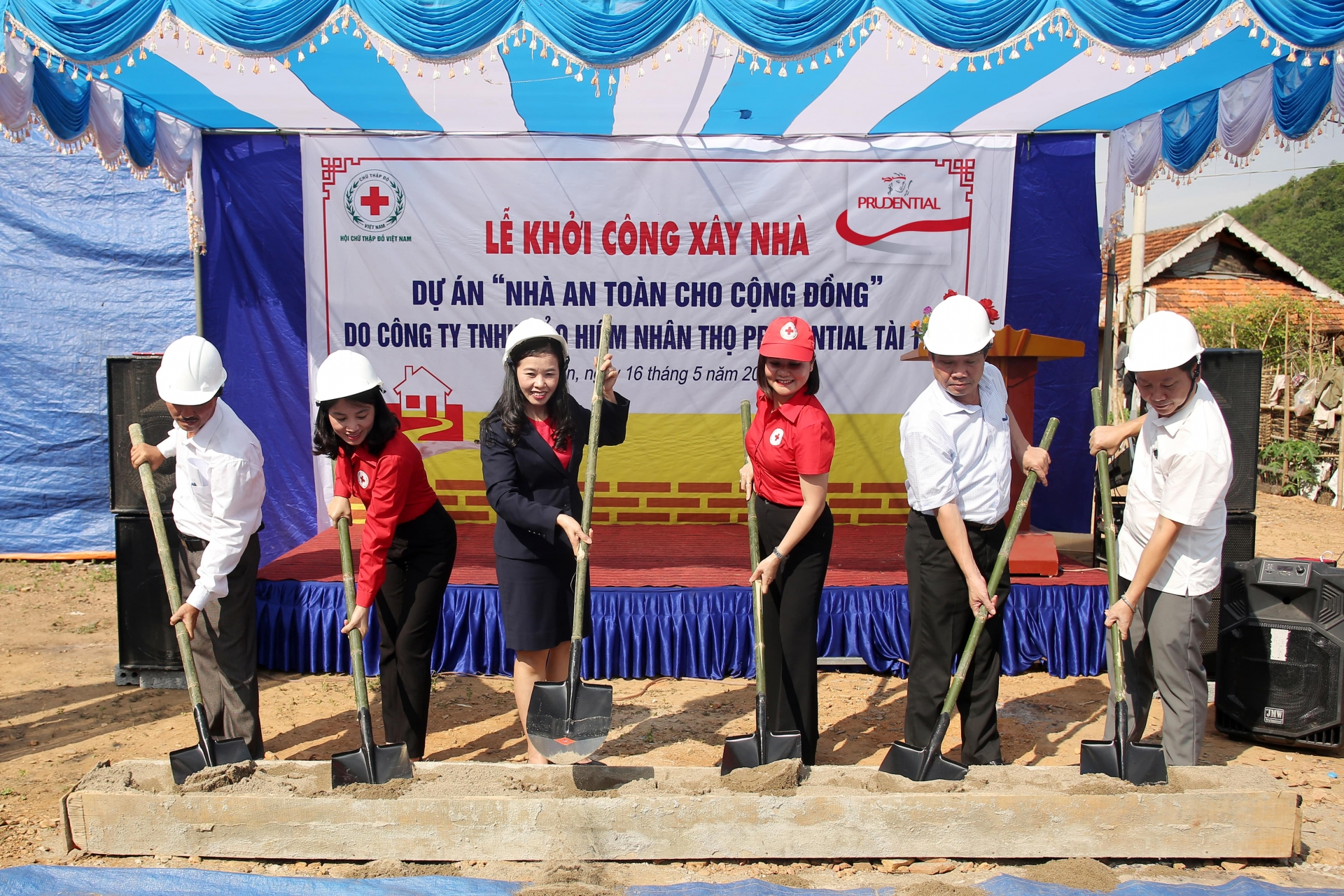 prudential vietnam builds disaster resilient homes in typhoon areas