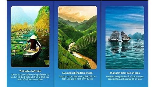 an application to find safe travel destinations in vietnam