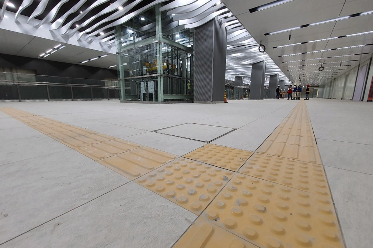 floor b1 of ba son underground station of metro line 1 completed