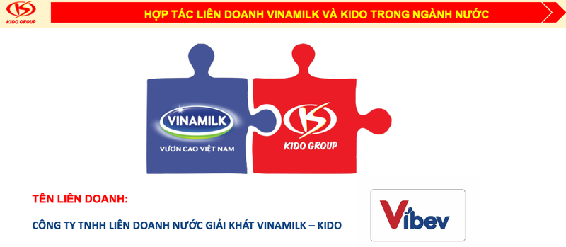 joint venture formed by major beverage groups vinamilk and kido